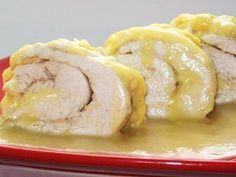 Chicken with orange-garlic sauce