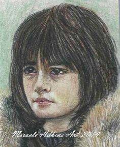 ACEO GAME OF THRONES Bran Stark Original Portrait Sketch Card by MIRACLE  #Miniature
