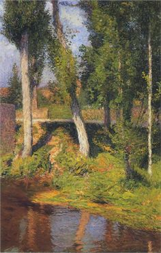 By the River, Henri Martin