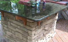 How to build a Cultured Stone Outdoor Bar