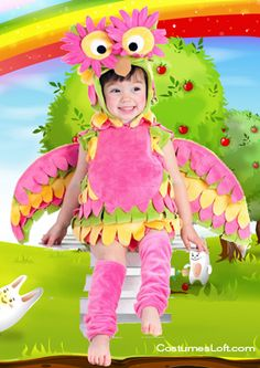 Baby Owl Costumes Selection That's Perfect For Costume Parties. Very Colorful Owl costume for girls, looks very pretty!