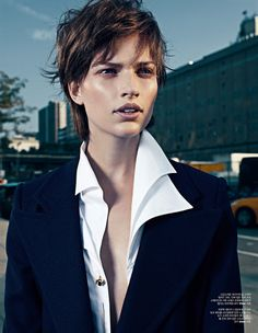 Bette Franke Gets Boyish in Chloe for W Korea by Catherine Servel