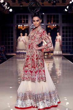 Manish Malhotra Delhi Couture Week 2011. <3 the shirt.