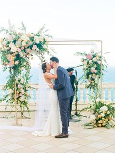 A Romantic Wedding in the South of France that Didn't End Until Incredible Wedding Ceremony View at a Venue In the South of France Wedding Arch Greenery, Wedding Arch Rustic, Vintage Wedding Theme, Wedding Ceremony, Wedding Venues, Wedding Arches, Wedding Backdrops, Diy Wedding Favors, Wedding Ideas