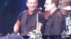 Bono joins Bruce Springsteen on stage at Croke Park in Dublin
