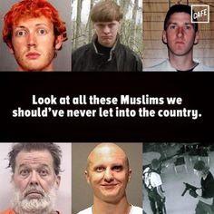 Sarcastic truth. White male supremacists are the true danger.