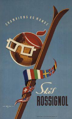 Skis Rossignol - 1953 - (Gaston Gorde) -