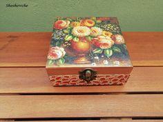 Wildflower jewelry box, Bouquet Flowers Jewellery keepsake box, Wooden Memory box, Decoupage art Wooden Memory Box, Wooden Keepsake Box, Keepsake Boxes, Wooden Boxes, Jewelry Box, Jewellery, Decoupage Box, Bouquet Flowers, Craft Markets