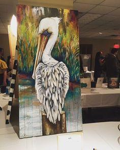 Pelican Art, Louisiana Art, Pallet Art, Beach Art, Heron, Bird Art, Painting Inspiration, Painting & Drawing, Watercolor Paintings