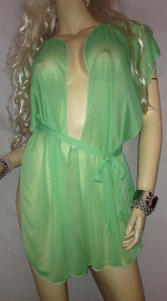 cee65cd0fe Plus Size-Camisk Slave Dress Gorean Kajira Submissive Exotic Dancer  Clubwear Beach Cover-up Fantasy Dress Slave Girl See-Thru Green