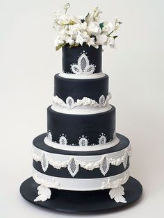 "<p>One good reason to choose a black and white wedding cake? Even if the <a rel=""nofollow"" href=""http://www.people.com/people/gallery/0,,20855255_30220785,00.html"">glamorous couple</a> changes their reception theme several times (hey, it is a Hollywood wedding), the cake will still coordinate. We'd love to see noted N.Y.C. baker <a rel=""nofollow"" href=""http://www.weddingcakes.com/#/home/"">Ron Ben-Israel</a> show up in Venice to deliver the goods.</p>"