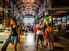 I loved it here -- such a pretty market and fantastic food. Mercado de San Miguel, Madrid, Spain