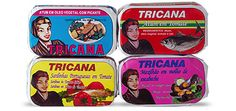 TRICANA CONSERVES  There are many brands of tinned fish in Portugal, but very few like Tricana. It selects only the best, freshest fish of Portuguese origin. The tuna comes from the Azores, sardines are fished in Matosinhos and the eels originate from Murtosa. Production is kept to a small scale so that quality remains high. Nevertheless, there is a wide selection to choose from, regarding both the number of conserves and the range of recipes.