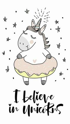 believe in unicorn typography and unicorn illustration vector. royalty-free stock vector art typography believe in unicorn typography and unicorn illustration vector. Real Unicorn, Cute Unicorn, Rainbow Unicorn, Unicorn Drawing, Unicorn Art, Wallpaper Fofos, Unicorn Quotes, Unicorn Illustration, Unicorn Pictures