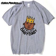 Biggie Smalls tee America hip hop rock star King t shirt  It's All Good Baby Baby Gangsta Rap painted t-shirt short sleeve tops