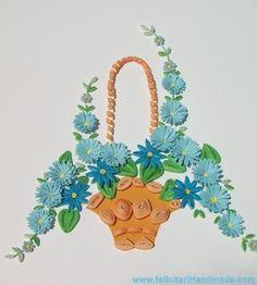 tablou quilling coș cu flori tablou quilling coș cu flori a fost o ...