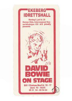1978 Handbill Bowie concert Oslo, Norway