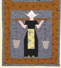 Hollands Meisje ~ Dutch Girl Quilt w/pattern Iris Folding, Girls Quilts, Quilt Patterns, Quilting Ideas, Paper Piecing, Quilt Blocks, Holland, Dutch, Free Pattern