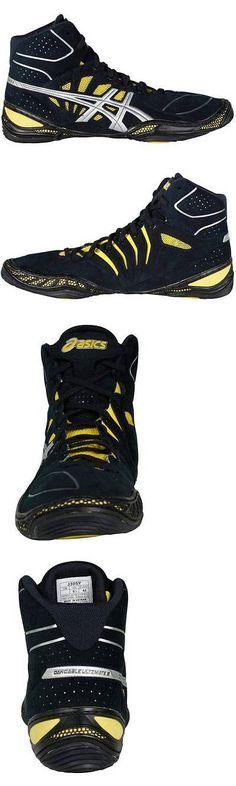 competitive price ad10b 55c51 Footwear 79799  Nib Mens Asics Dan Gable Ultimate 3 Wrestling Shoes 8.5  40.5 Black Silver