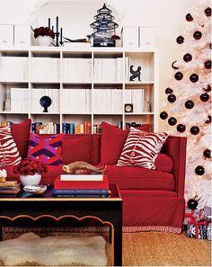 HOT FOR HUE: RED LIVING ROOMS | Chez Lissette | Interior Designer Long Island