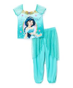Love this Turquoise Princess Jasmine Fantasy Pajama Set - Toddler & Girls by Disney Princess on #zulily! #zulilyfinds