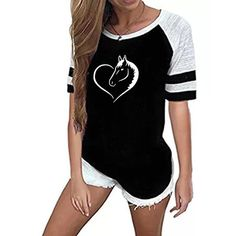 Horse T Shirts, Forever Love, Plus Size Women, Cool Shirts, Harajuku, Cotton Fabric, T Shirts For Women, Lady, Tees