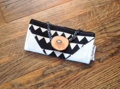 Bifold Black and White available now by missmoneybagsstore on Etsy, $48.00
