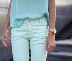 Fine ! Mint trousers!