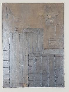"Biollay Vanina ""Noir"" 73 x 100 cm Acrylique , modeling past, vernis"