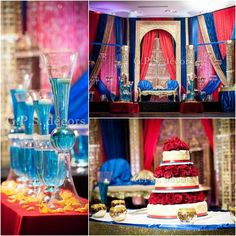 Red,Blue & Golds ..... #wedding decor #decorators