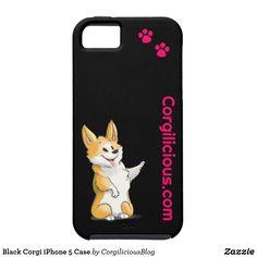 Black Corgi iPhone 5 Case