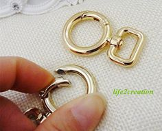5pcs gold spring ring clasp gate ring 42x20mm xm-160