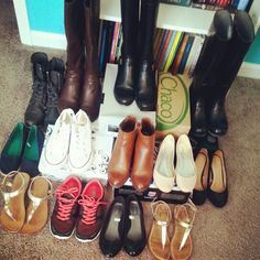 Shoes and shoes and more shoes -- Prep For A Day