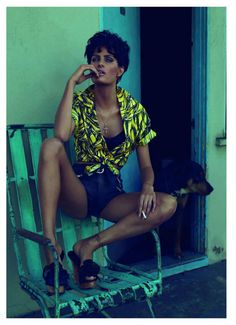 'A dog-eat-dog world' - The stunning Isabeli Fontana for Vogue Paris, June/July 2011