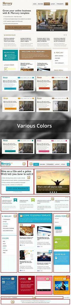 Free Mercury Joomla Template. Joomla Themes Joomla Themes, Joomla Templates, Building A Website, Visit Website, Social Networks, Web Development, Mercury, Typography, Free