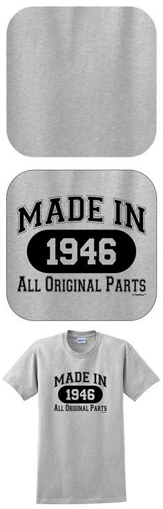 70th Birthday Candles Cards 70th Birthday Gift Made 1946 All Original Parts T-Shirt Large Ash