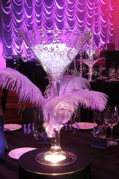 Captivating Martini Glass Centerpiece   Google Search More