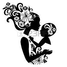 Resultado de imagen de mother silhouette tattoo