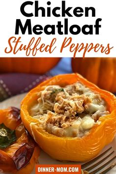 Healthy Stuffed Peppers have a cheesy, filling made with ground chicken that your family will love! You may have seen chicken meatloaf stuffed peppers at Publix. This homemade version is equally tasty and easy to make. We'll show you all the tricks including how to make them ahead and freeze them! #stuffedpeppers #freezerrecipes