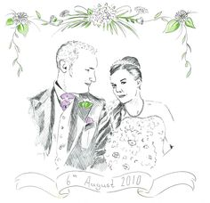 Wedding portrait pen and ink drawing Wedding Portraits, Arts And Crafts, Ink, Drawings, Beautiful, Sketches, Sketch, India Ink, Drawing