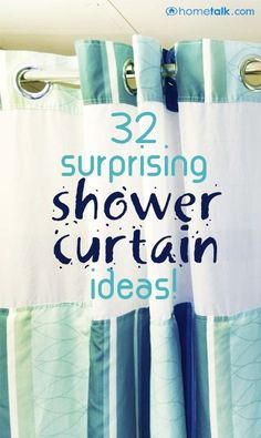 Add some character to your bathroom with these great shower curtain ideas!