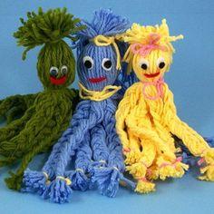 pulpos de lana de colores