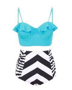 Swimwear Women Triangle Bikini Set Bandage Push-Up Swimsuit Bathing Beachwear