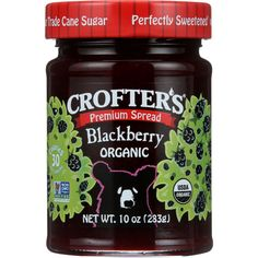 Crofters Fruit Spread - Organic - Premium - Blackberry - 10 oz - case of 6 - Weve got the classics: strawberry blueberry raspberry blackberry apricot four fruit concord grape.Weve got the unique: morello cherry.Weve got the exotic: mango pomegranate.Whichever fruit you fancy weve preserved the very best.Whats in a jar of Crofters Organic Strawberry Premium Spread? Mostly organic strawberries. The top-line ingredient in our Wild Blueberry Premium Spread is organic wild-harvested blueberries…