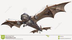 steampunk plane drawing - Google Search