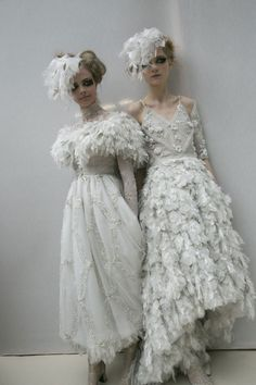 Cara Delevingne & Maria Loks at Chanel Haute Couture Spring/Summer 2013.