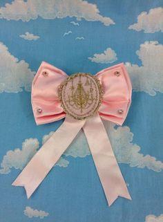 Chandelier Print Brooch in Pink from Angelic Pretty - Lolita Desu