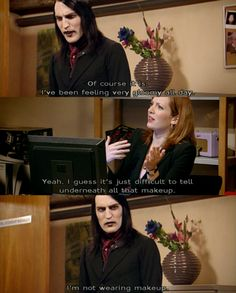 IT Crowd - Richmond is my fave character. :)...not to mention I have the BIGGEST crush on Noell Fielding