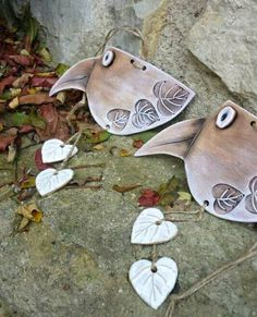 Pottery Bowls, Ceramic Pottery, Pottery Art, Ceramic Birds, Ceramic Clay, Clay Projects, Clay Crafts, Keramik Design, Clay Tiles