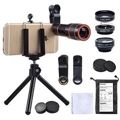 """Is the Cell Phone Camera Zoom Lens Kit, 4 in 1 HD 12X Optical Telescope Zoom Lens+ Fisheye+ Wide Angle+ Macro Lens with Universal Clip+ Tripod for iPhone 6/7/6s Plus/SE, Samsung, Google, LG and Most phones  Fairly worth the money and all the """"best product deals EVER""""  buzz? Are there much bet..."""